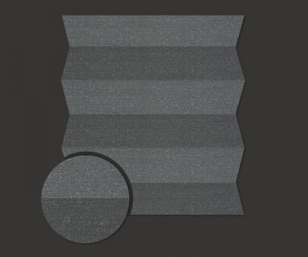 Roleta plisowana Materiał Brix 1108 - ciemny szary